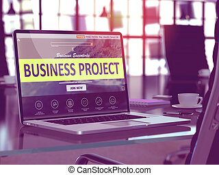 Business Project Concept on Laptop Screen. - Business ...