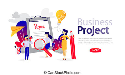 Business project horizontal banner for your website.