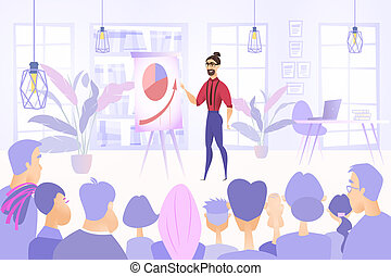Business Project Presentation Vector Concept