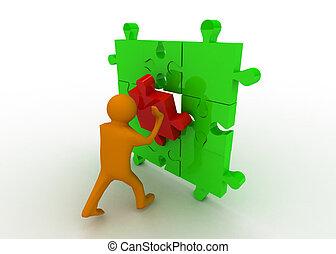 business puzzle concept
