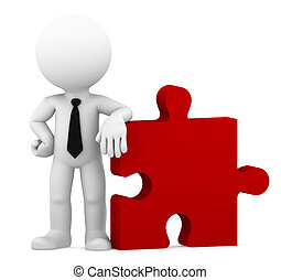 Business puzzle. Isolated