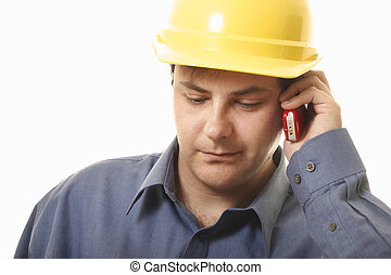 Business Quote - A man takes a phonecall on his cellphone eg...