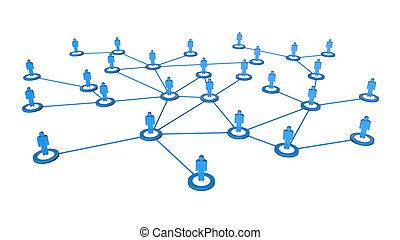 business, réseau, connexions