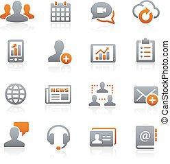 business, réseau, --, graphite, série