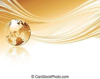 business, résumé, fond, globe., élégant