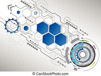 business, résumé, illustration, fond, vecteur, nouvelle technologie
