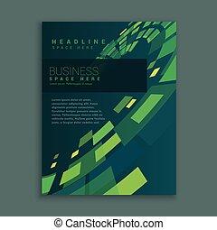 business, résumé, page, conception, brochure, compagnie