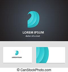 business, résumé, vecteur, conception, gabarit, carte, icône