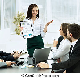 Business, réussi, Travail,  plan, équipe, discuter