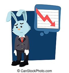 business rabbit down because falling graphic