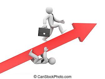 Business race. Advantage. 3d illustration