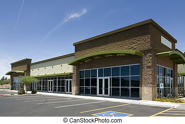 Business Real Estate - Empty retail business exterior