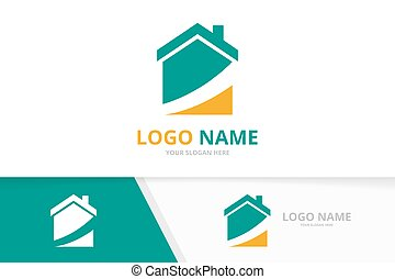 Business real estate logo combination. Home logotype design template.