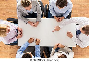 business, redresser, équipe, fin, table