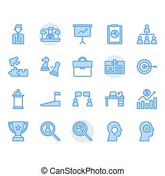 Business related icon and symbol set