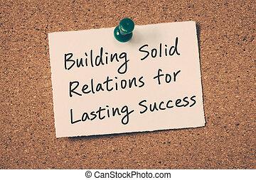 business relationship building concept