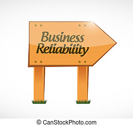 Business reliability wood sign concept