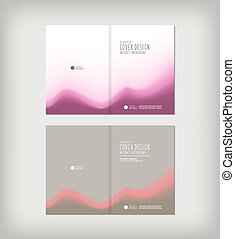 Business report abstract cover design flat vector.