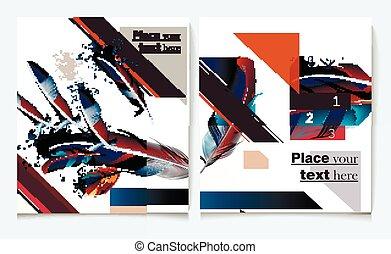 Business report brochure flyer design template vector cover...