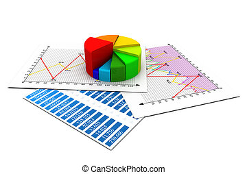 business report, graph charts