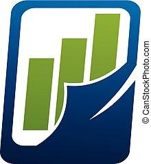 Business Report Logo Design Template Vector