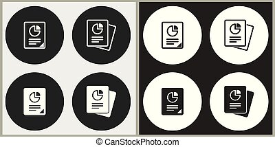 Business report - vector icon.