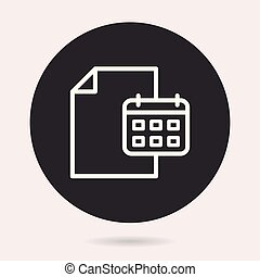 Business report - vector icon. Illustration isolated. Simple pictogram.