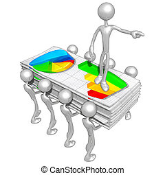 Business Reports - A Concept And Presentation Illustration...