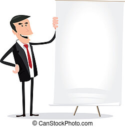 Business Results - Illustration of a happy cartoon...
