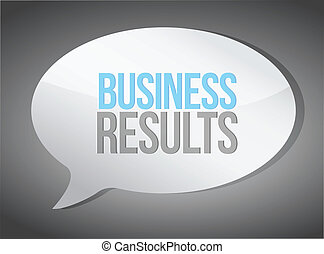 business results message illustration design