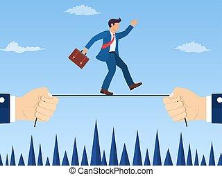 Business risk concept.