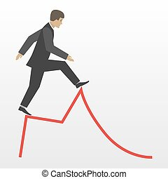 Business risk vector flat concept illustration