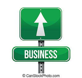business road sign illustration design