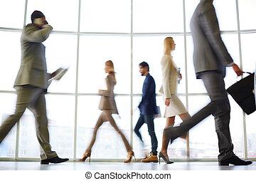 Business rush