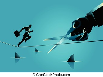 Business Sabotage Concept - Business concept illustration of...