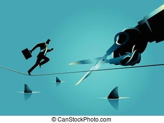 Business Sabotage Concept - Business concept illustration of...