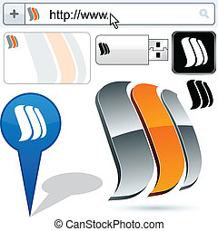Business sails vector abstract signs represented in...