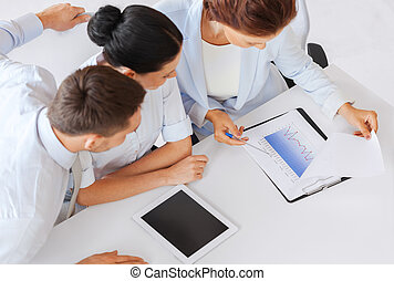 business team having discussion in office - business, school...