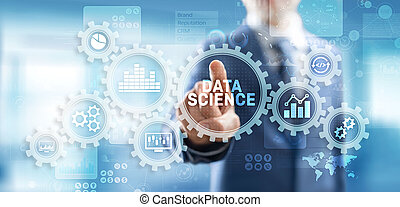 business, screen., technologie, grand, science, analyse, données, concept, virtuel