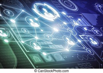 Business screen texture