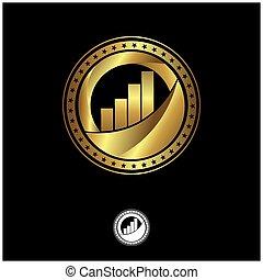 Business seal logo. Gold logo template