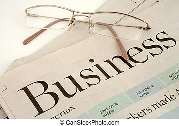 business section of newspaper