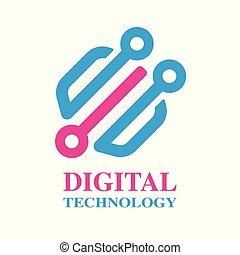 business., segno, vettore, disegno, sagoma, logotipo, tecnologia