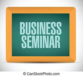 business seminar sign illustration design