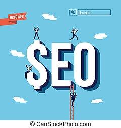 Business seo internet marketing illustration