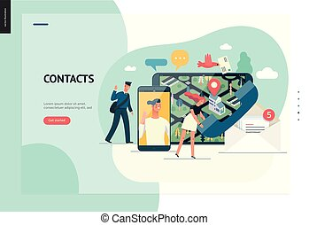 Business series - contacts web template