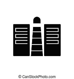 Business service provider conept black vector concept icon. Business service provider conept flat illustration, sign, symbol