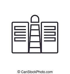 business service provider conept line icon, sign, symbol, vector on isolated background