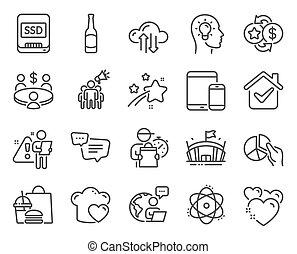 business, set., atome, ssd, symbols., marque, points, ...