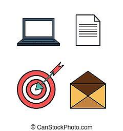 business set concept icon